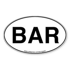 Bar Eurogeek Oval Decal