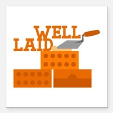 """Well laid Square Car Magnet 3"""" x 3"""""""