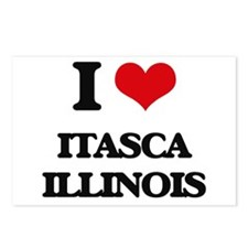 I love Itasca Illinois Postcards (Package of 8)