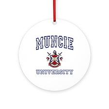 MUNCIE University Ornament (Round)