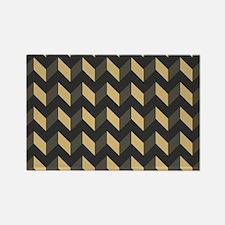 Chevron Patchwork Pattern Rectangle Magnet