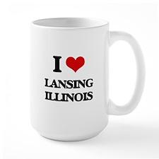 I love Lansing Illinois Mugs