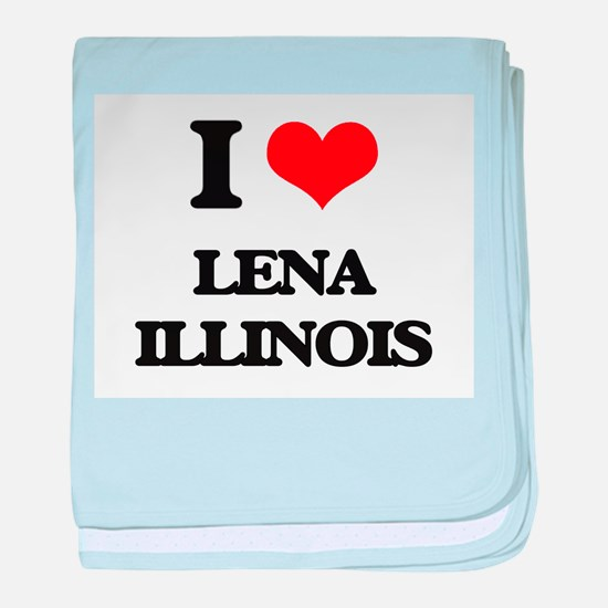 I love Lena Illinois baby blanket