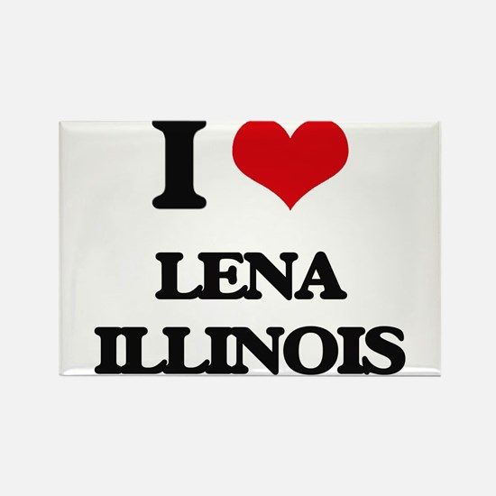 I love Lena Illinois Magnets