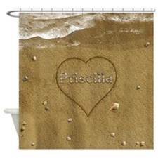 Priscilla Beach Love Shower Curtain