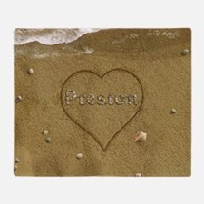 Preston Beach Love Throw Blanket