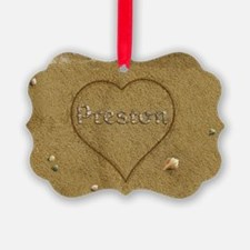 Preston Beach Love Ornament
