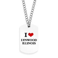 I love Lynwood Illinois Dog Tags