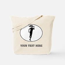 Runner Silhouette Oval (Custom) Tote Bag