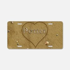 Porter Beach Love Aluminum License Plate