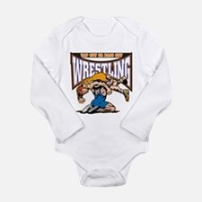 Tap Out or Pass Out Wr Long Sleeve Infant Bodysuit
