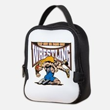 Tap Out or Pass Out Wrestling Neoprene Lunch Bag