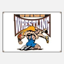 Tap Out or Pass Out Wrestling Banner