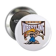 """Tap Out or Pass Out Wrestling 2.25"""" Button"""