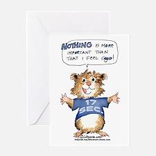Cartoon Hamster Greeting Card