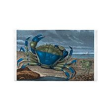 Blue Crabs Area Rug