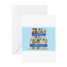 Thank you to swimming coach. Greeting Card
