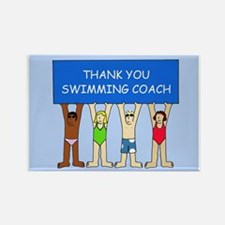 Thank you to swimming coach. Rectangle Magnet