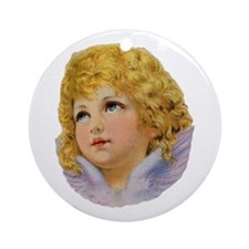 Angelic Face Ornament (Round)