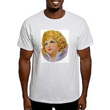 Angelic Face Ash Grey T-Shirt