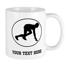 Runner Crouched Oval (Custom) Mugs
