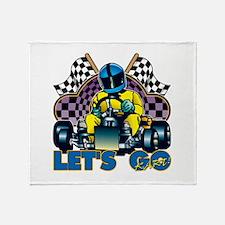 Let's Go Kart! Throw Blanket