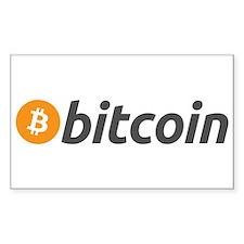 Bitcoin Logo Sticker (rectangle)