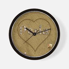 Perla Beach Love Wall Clock