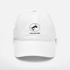 High Jump Silhouette Oval (Custom) Baseball Baseball Baseball Cap