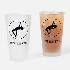 High Jump Silhouette Oval (Custom) Drinking Glass