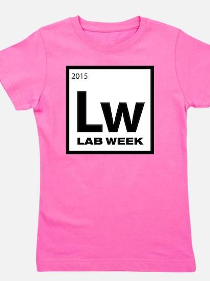 Lab Week 2015 Logo White Girl's Tee