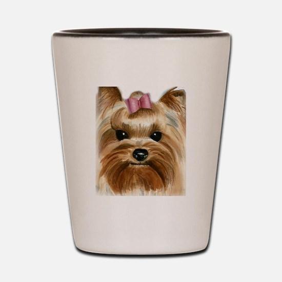 Puppy_Yorkie Shot Glass
