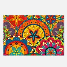 Funky Retro Pattern Postcards (Package of 8)