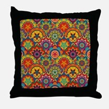 Funky Retro Pattern Throw Pillow