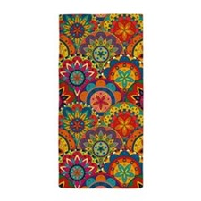 Funky Retro Pattern Beach Towel