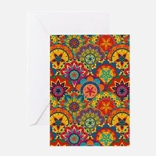 Funky Retro Pattern Greeting Cards