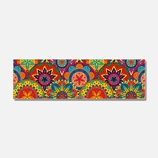 Funky Retro Pattern Car Magnet 10 x 3