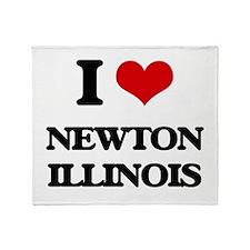 I love Newton Illinois Throw Blanket