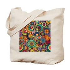 Funky Retro Pattern Tote Bag