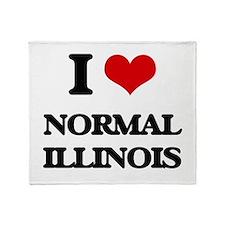 I love Normal Illinois Throw Blanket