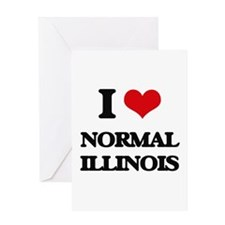 I love Normal Illinois Greeting Cards