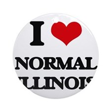 I love Normal Illinois Ornament (Round)