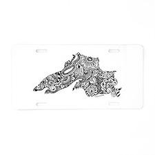Cute Lake superior Aluminum License Plate