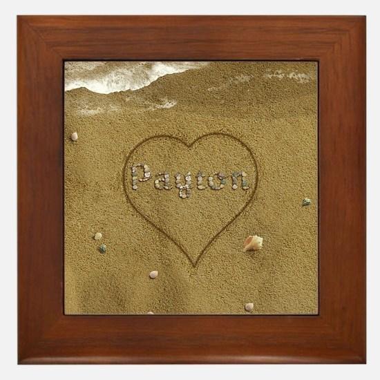 Payton Beach Love Framed Tile