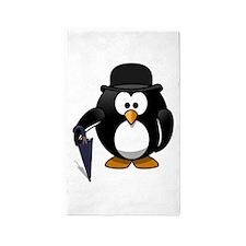 Gentleman Penguin Area Rug