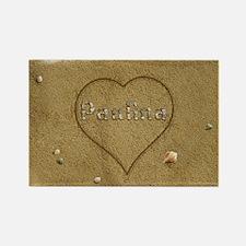 Paulina Beach Love Rectangle Magnet