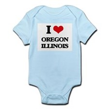 I love Oregon Illinois Body Suit