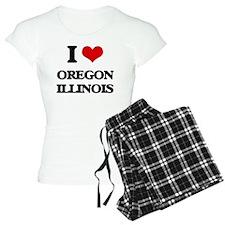 I love Oregon Illinois Pajamas