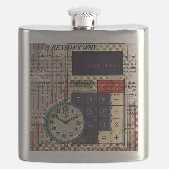 vintage scripts retro clock  Flask