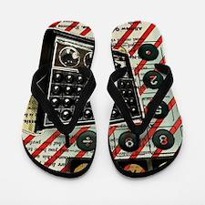 geeky retro radio Flip Flops